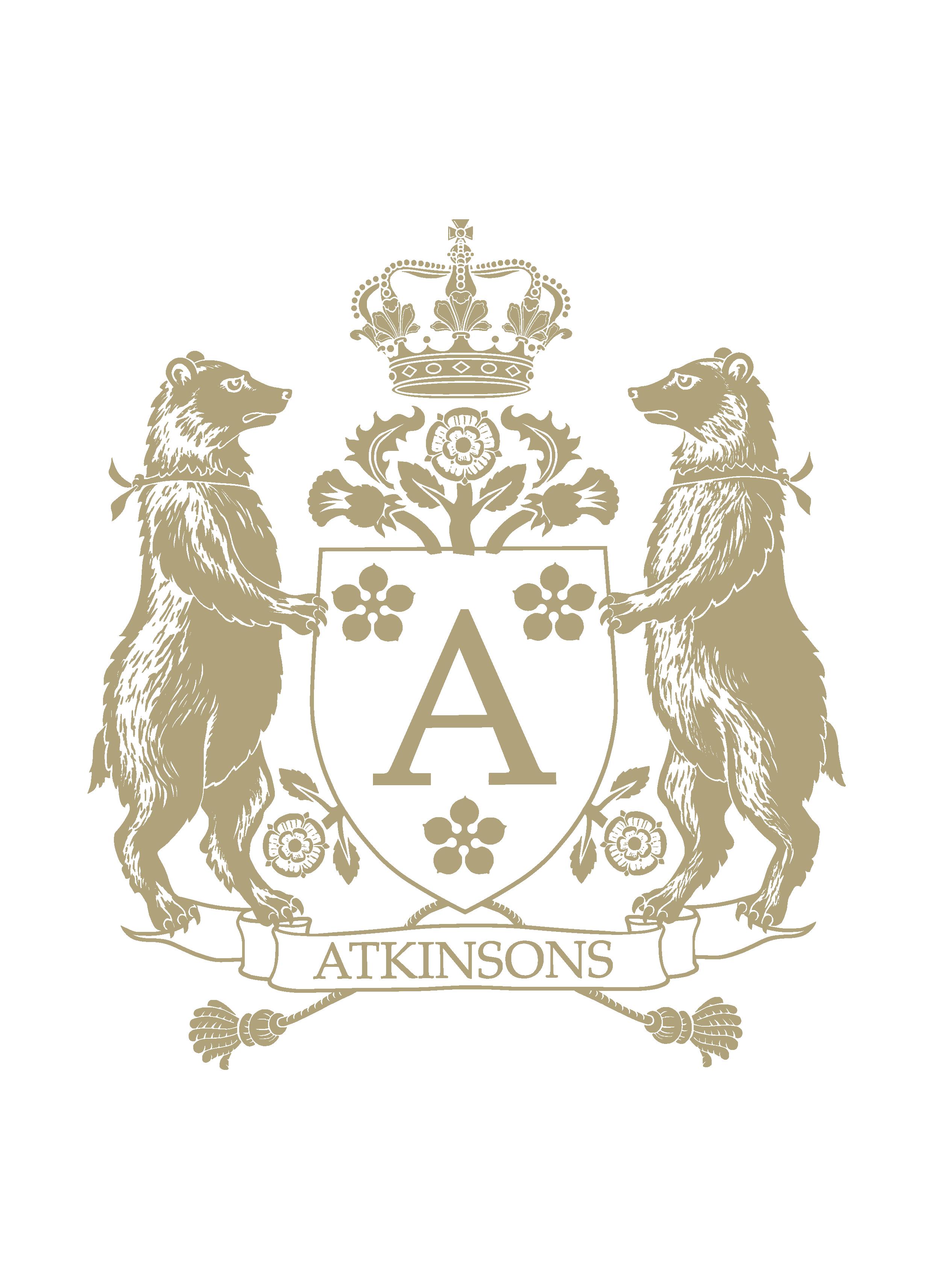 Logo Armoiries ATKINSONS infographie Création originale pour la marque de parfums ATKINSONS (c)HERALDIKER