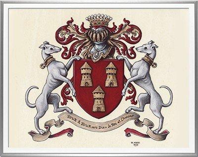 Armoiries AUDREN de KERDREL Création originale - Huile sur parchemin et feuille d'or - (c)HERALDIKER
