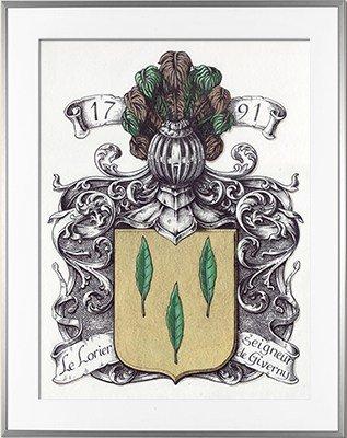 Escudo de armas LE LORIER - 1791