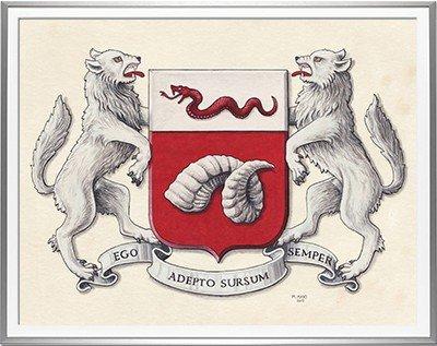Armoiries TARASCONI  Création originale - Huile sur papier - (c)HERALDIKER