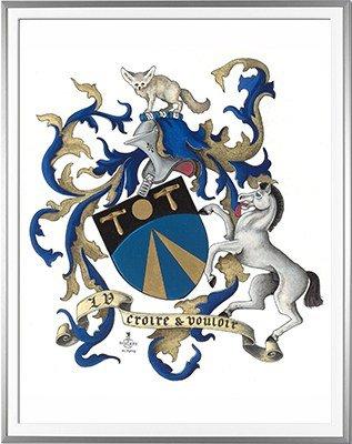 Armoiries VERNIER Création originale - Huile sur papier et feuille d'or - (c)HERALDIKER
