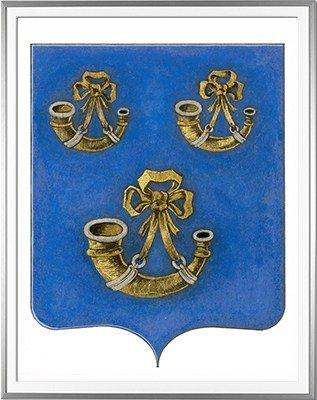 Blason de GOY Création originale - Huile sur papier et feuille d'or - (c)HERALDIKER