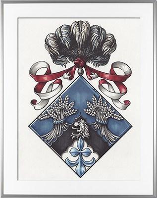 Escudo de armas HERAUT Tinta china y fieltro al alcohol (c)HERALDIKER
