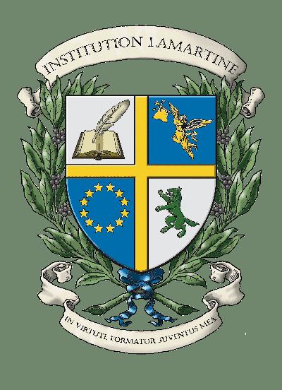 Logo armoiries INSTITUTION LAMARTINE infographie  Création originale des armoiries de l'école (c)HERALDIKER