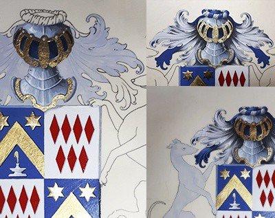 HERALDIKER - Etape 2 peintures des armoiries BONNEAU de LESTANG