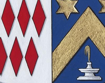 HERALDIKER - Détail1 peintures des armoiries BONNEAU de LESTANG