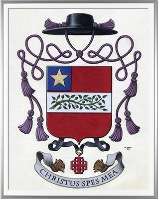 Armoiries CASSERON Création originale  Huile sur parchemin et feuille d'or (c)HERALDIKER