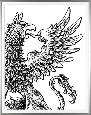 Armoiries VIALETON détail 2 Encre de Chine (c)HERALDIKER