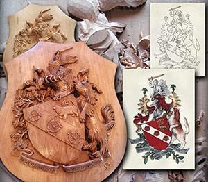 HERALDIKER PRESTA sculpture bois