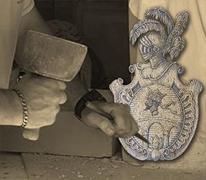 HERALDIKER PRESTA sculpture pierre